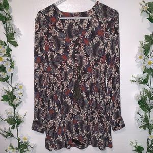 FREE PEOPLE: Stealing fire floral mini TUNIC DRESS